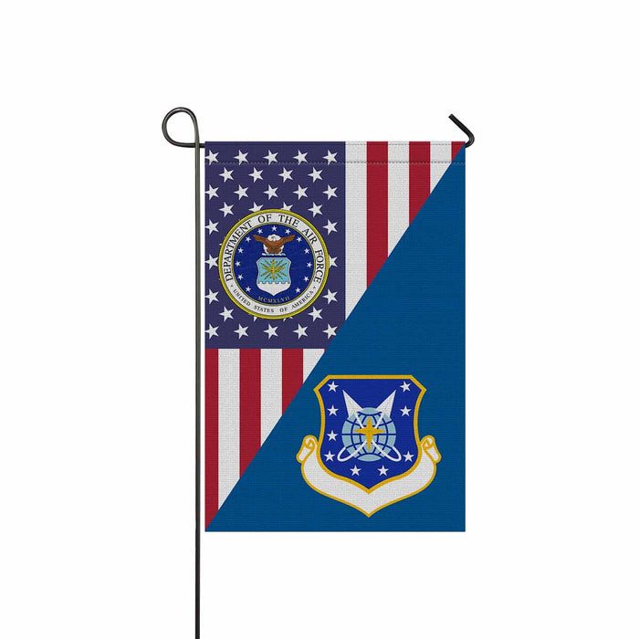 US Air Force 9th Space Division Garden Flag 12'' x 18'' Twin-Side Printing