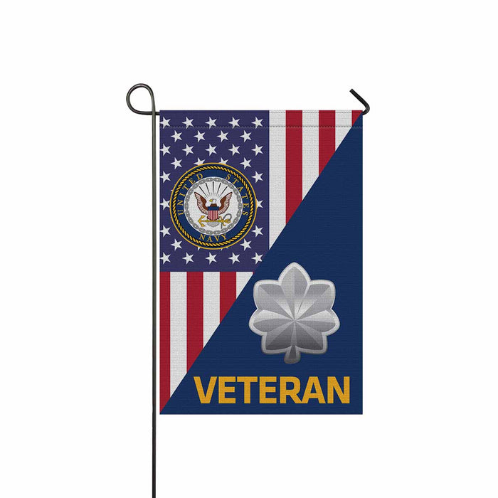 US Navy O-5 Commander O5 CDR Senior Officer Veteran Garden Flag 12'' x 18'' Twin-Side Printing
