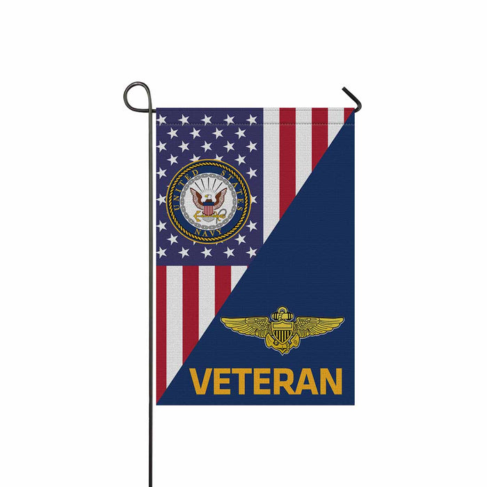 US Navy Naval Aviator Veteran Garden Flag 12'' x 18'' Twin-Side Printing
