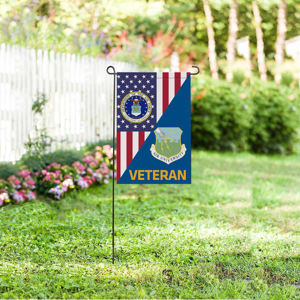 US Air Force Air University  Veteran Garden Flag 12'' x 18'' Twin-Side Printing