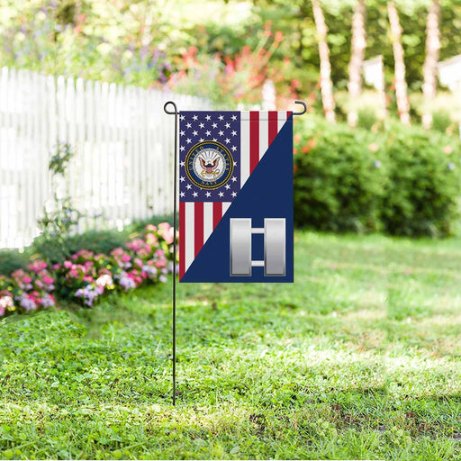 US Navy O-3 Lieutenant O3 LT Junior Officer Garden Flag 12'' x 18'' Twin-Side Printing