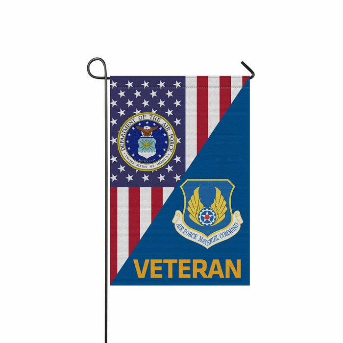 US Air Force Materiel Command  Veteran Garden Flag 12'' x 18'' Twin-Side Printing