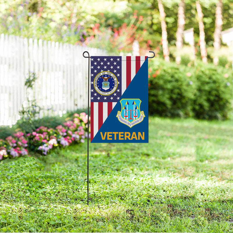 US Air Force Operational Test and Evaluation Center  Veteran Garden Flag 12'' x 18'' Twin-Side Printing