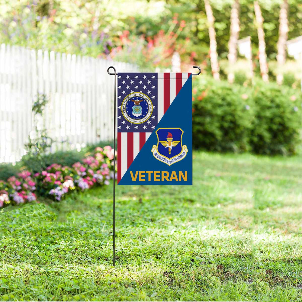 US Air Force Air Education and Training Command  Veteran Garden Flag 12'' x 18'' Twin-Side Printing