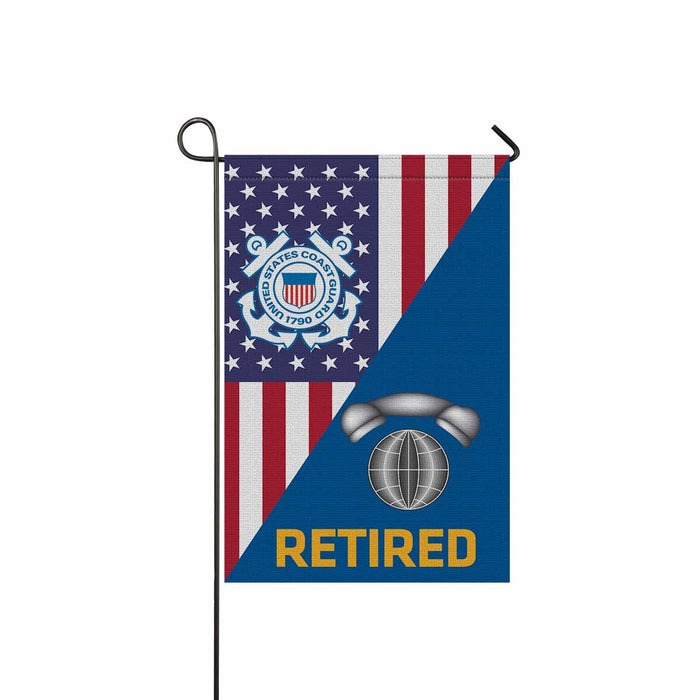 US Coast Guard Information Systems Technician IT Retired Garden Flag 12'' x 18'' Twin-Side Printing