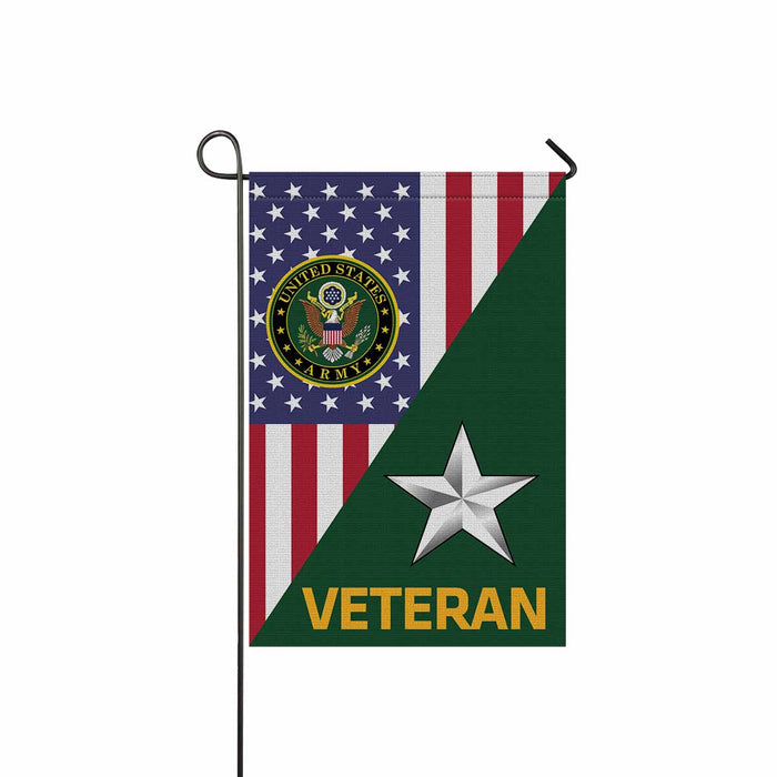 US Army O-7 Brigadier General O7 BG General Officer Veteran Garden Flag 12'' x 18'' Twin-Side Printing