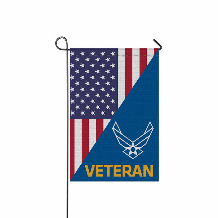 US Air Force Symbol Veteran Symbol Garden Flag 12'' x 18'' Twin-Side Printing