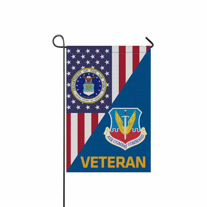 US Air Force Air Combat Command  Veteran Garden Flag 12'' x 18'' Twin-Side Printing
