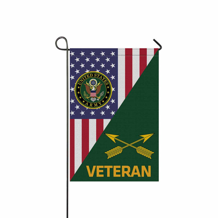 U.S. Army Special Forces (USASFC) Veteran Garden Flag 12 Inch x 18 Inch Twin-Side Printing