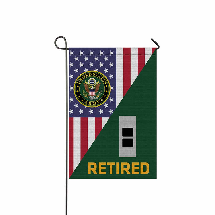 US Army W-2 Chief Warrant Officer 2 W2 CW2 Warrant Officer Retired Garden Flag 12'' x 18'' Twin-Side Printing