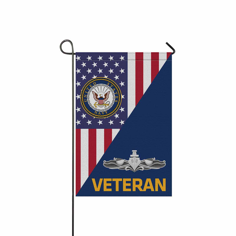 US Navy Surface Warfare Enlisted Badge Veteran Garden Flag 12'' x 18'' Twin-Side Printing