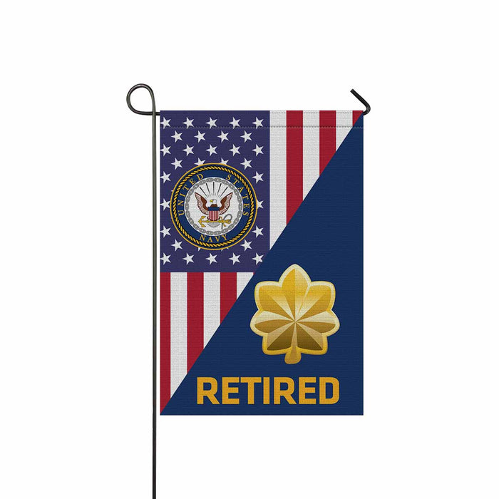 US Navy O-4 Lieutenant Commander O4 LCDR Junior Officer Retired Garden Flag 12'' x 18'' Twin-Side Printing