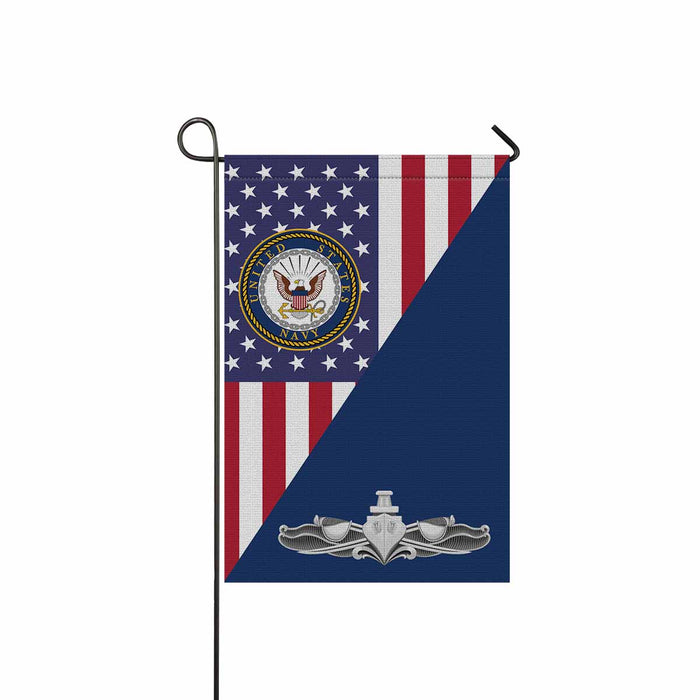 US Navy Surface Warfare Enlisted Badge Garden Flag 12'' x 18'' Twin-Side Printing