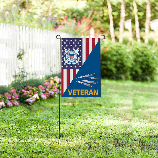 US Coast Guard Telecommunications Specialist TC Veteran Garden Flag 12'' x 18'' Twin-Side Printing