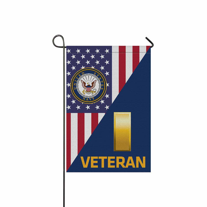 US Navy O-1 Ensign O1 ENS Junior Officer Veteran Garden Flag 12'' x 18'' Twin-Side Printing