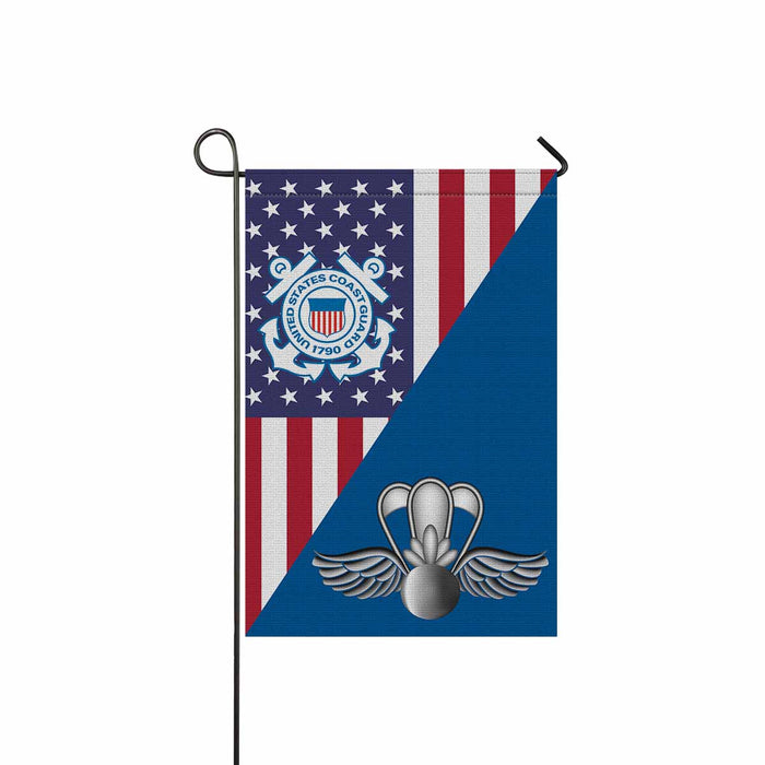 USCG AVIATION SURVIVAL TECHNICIAN AST  Garden Flag 12'' x 18'' Twin-Side Printing