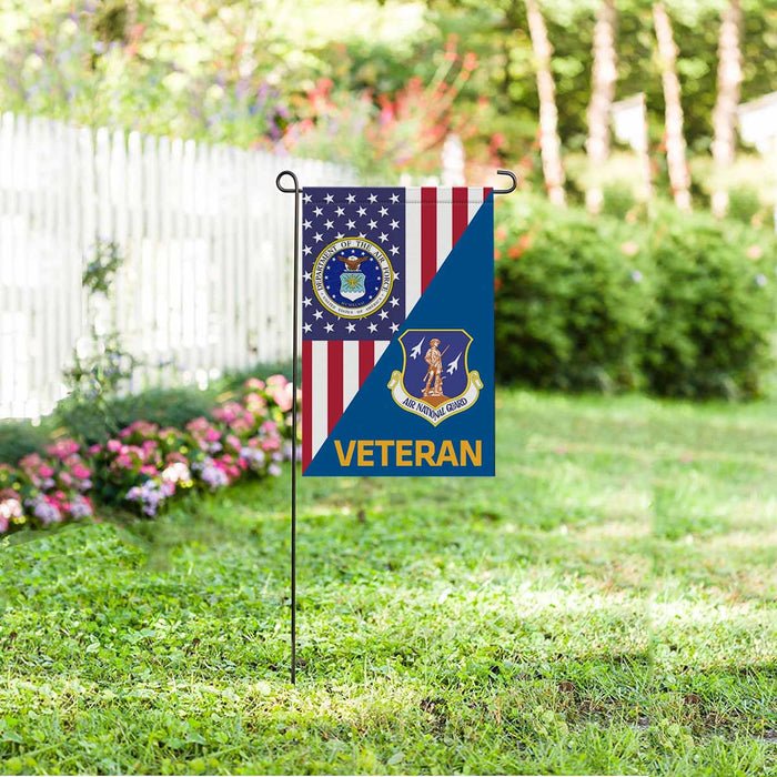 US Air Force Air National Guard  Veteran Garden Flag 12'' x 18'' Twin-Side Printing