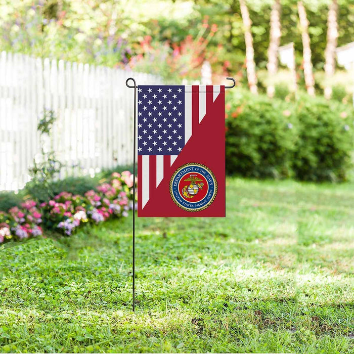 US Marine Corps Garden Flag/Yard Flag 12 inches x 18 inches Twin-Side Printing