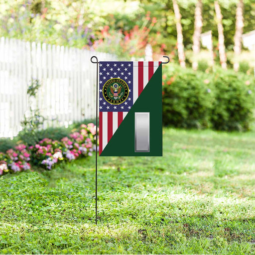 US Army O-2 First Lieutenant O2 1LT Commissioned Officer Garden Flag 12'' x 18'' Twin-Side Printing