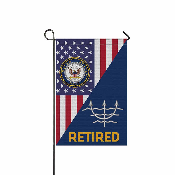 Navy Ocean Systems Technician Navy OT Retired Garden Flag 12'' x 18'' Twin-Side Printing