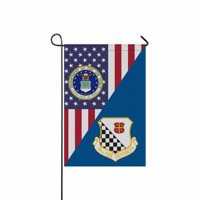 US Air Force 58th Air Division Garden Flag 12'' x 18'' Twin-Side Printing