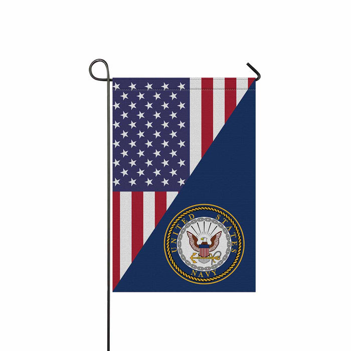 US Navy Logo Garden Flag 12'' x 18'' Twin-Side Printing