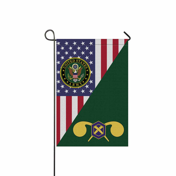 US Army Chemical Corps Garden Flag 12 Inch x 18 Inch Twin-Side Printing