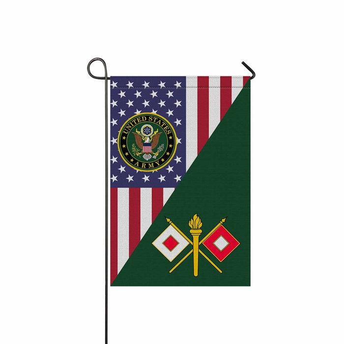 US Army Signal Corps Garden Flag 12 Inch x 18 Inch Twin-Side Printing
