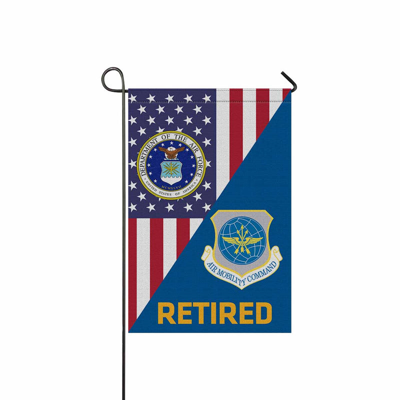 US Air Force Air Mobility Command  Retired Garden Flag 12'' x 18'' Twin-Side Printing