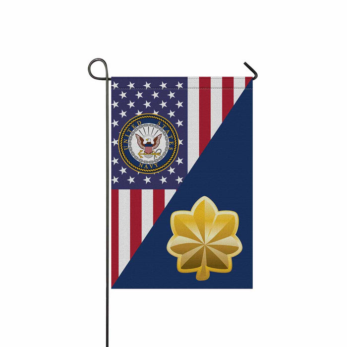 US Navy O-4 Lieutenant Commander O4 LCDR Junior Officer Garden Flag 12'' x 18'' Twin-Side Printing