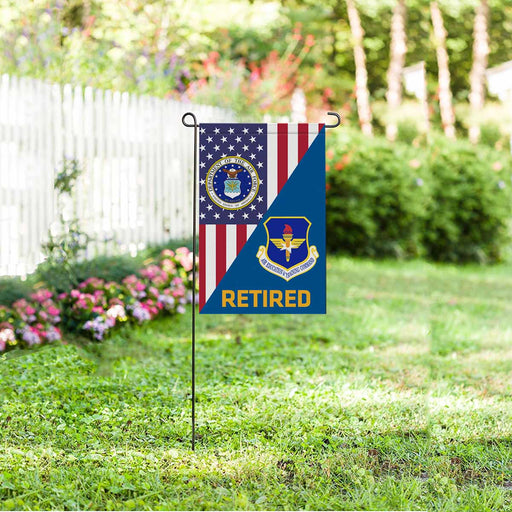 US Air Force Air Education and Training Command  Retired Garden Flag 12'' x 18'' Twin-Side Printing