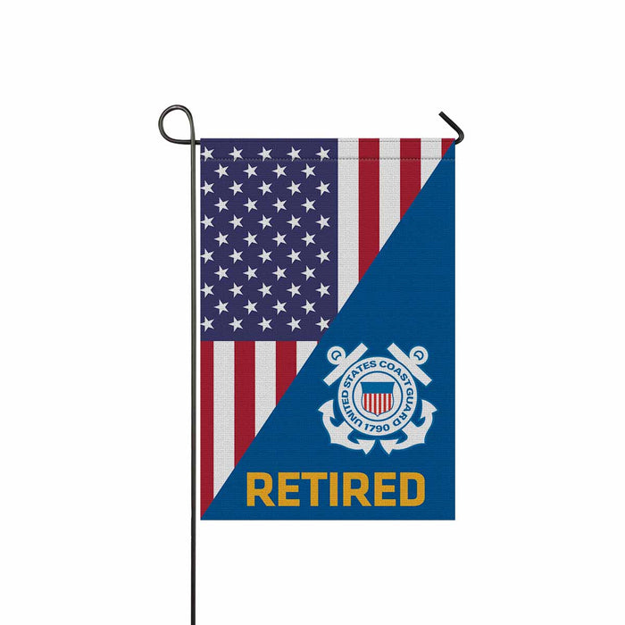US Coast Guard Retired Garden Flag 12'' x 18'' Twin-Side Printing