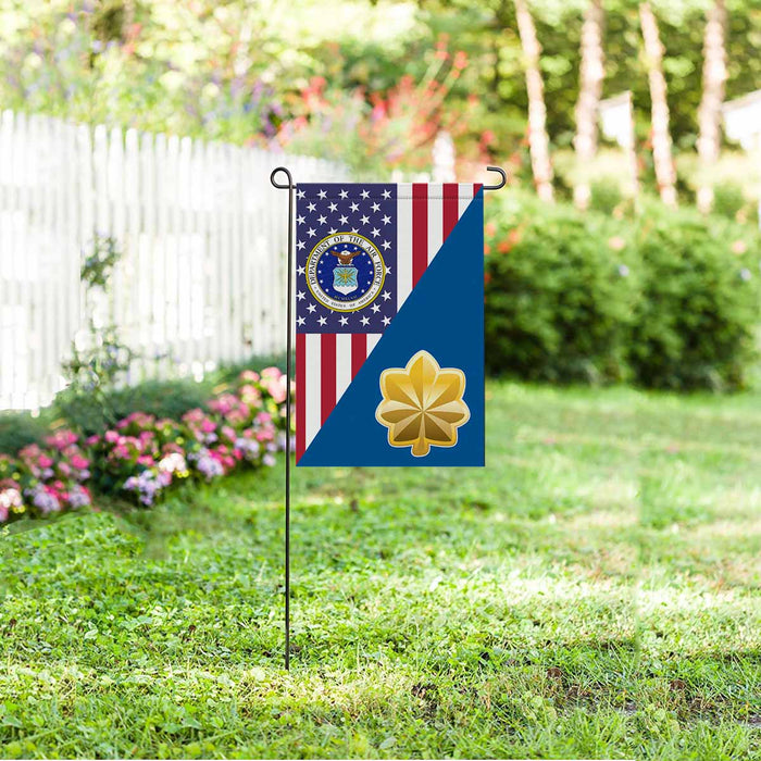 US Air Force O-4 Major Maj O4 Field Officer Ranks Garden Flag 12'' x 18'' Twin-Side Printing