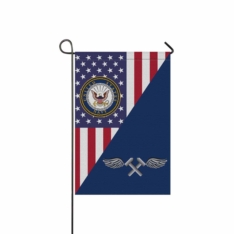 Navy Aviation Structural Mechanic Navy AM Garden Flag 12'' x 18'' Twin-Side Printing