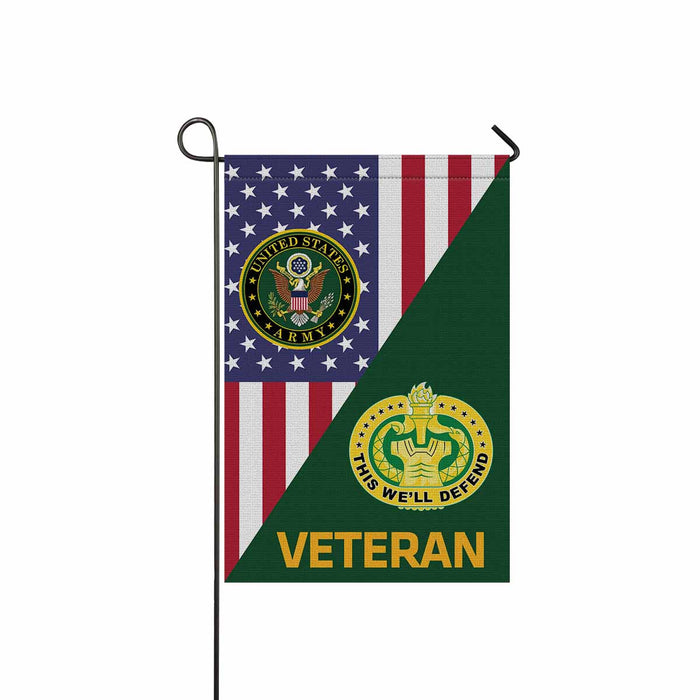 US Army Drill Sergeant Veteran Garden Flag 12 Inch x 18 Inch Twin-Side Printing