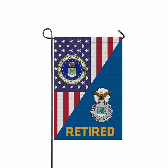 US Air Force Security Police  Retired Garden Flag 12'' x 18'' Twin-Side Printing