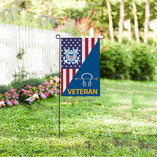 US Coast Guard Sonar Technician ST Veteran Garden Flag 12'' x 18'' Twin-Side Printing