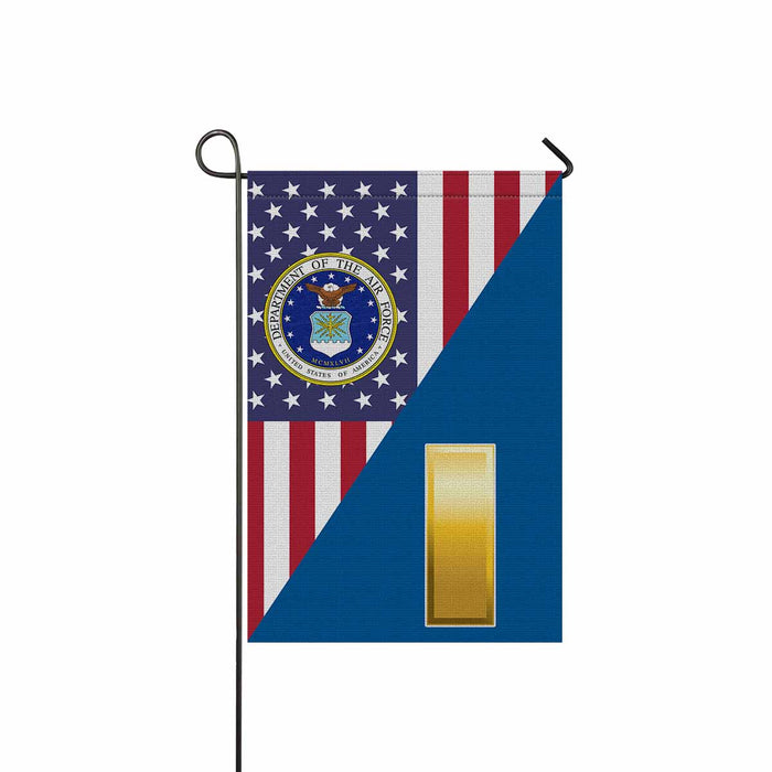 US Air Force O-1 Second Lieutenant 2d Lt O1 Garden Flag 12'' x 18'' Twin-Side Printing