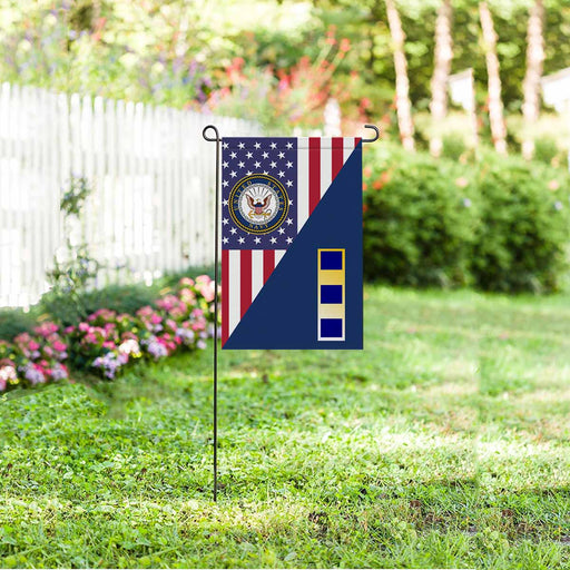 US Navy W-2 Chief Warrant Officer 2 W2 CW2 Warrant Officer Garden Flag 12'' x 18'' Twin-Side Printing