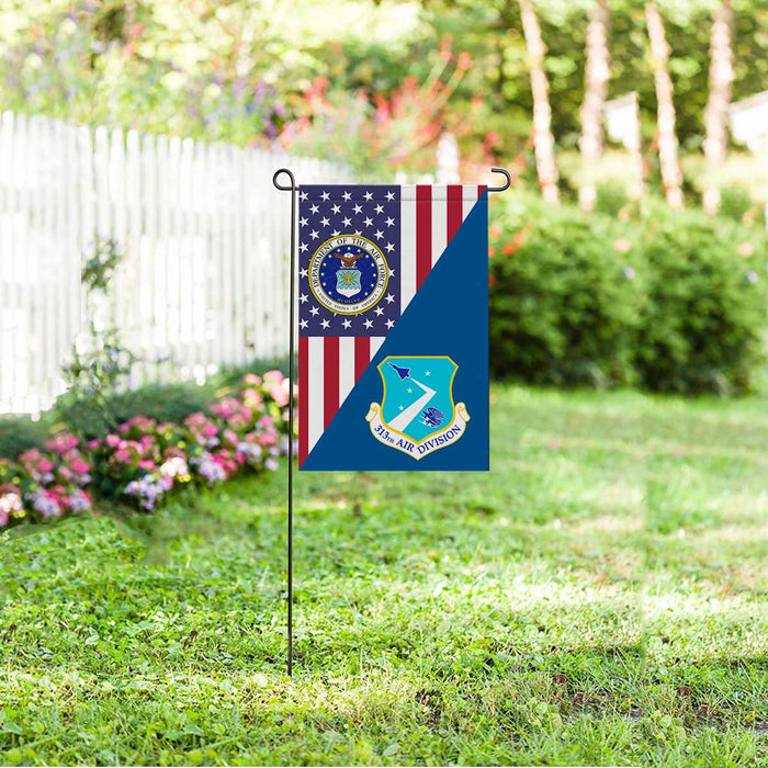 US Air Force 313th Air Division Garden Flag 12'' x 18'' Twin-Side Printing