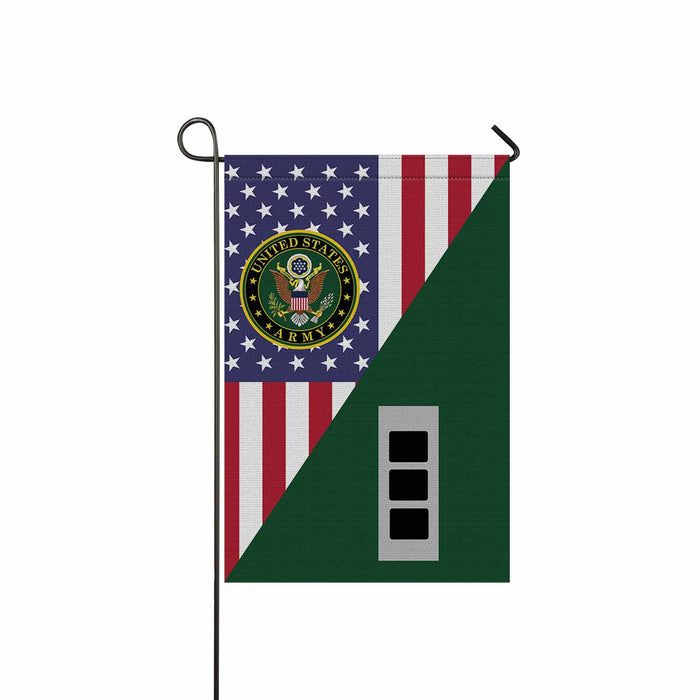 US Army W-3 Chief Warrant Officer 3 W3 CW3 Warrant Officer Garden Flag 12'' x 18'' Twin-Side Printing