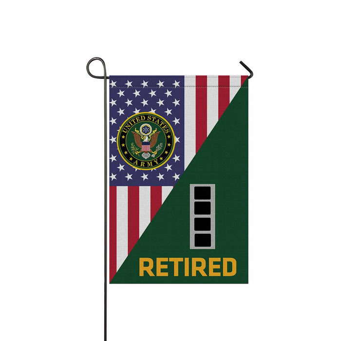 US Army W-4 Chief Warrant Officer 4 W4 CW4 Warrant Officer Retired Garden Flag 12'' x 18'' Twin-Side Printing