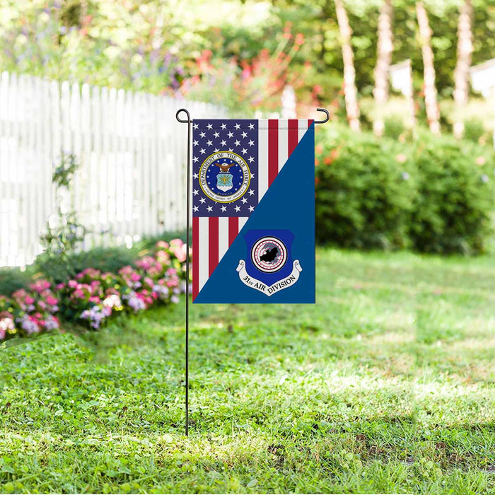 US Air Force 31st Air Division Garden Flag 12'' x 18'' Twin-Side Printing