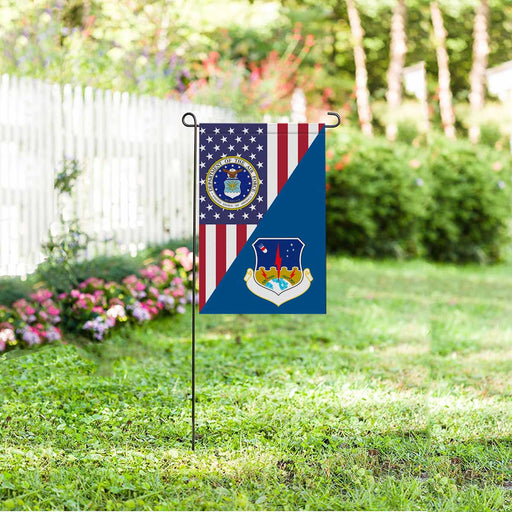 US Air Force 1st Strategic Aerospace Division Garden Flag 12'' x 18'' Twin-Side Printing