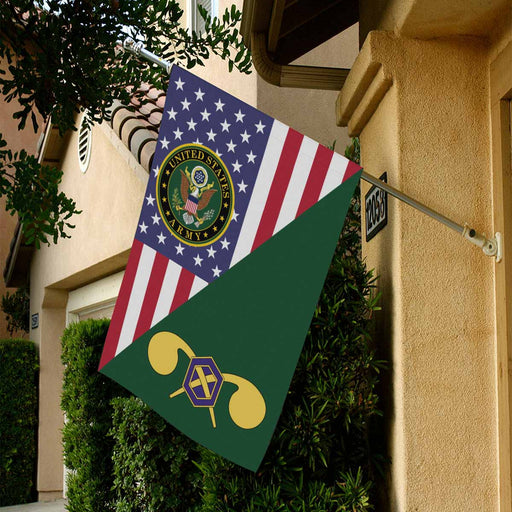 US Army Chemical Corps House Flag 28 Inch x 40 Inch Twin-Side Printing