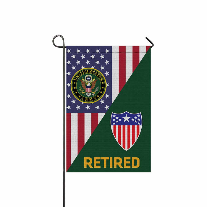 US Army Adjutant General Retired Garden Flag 12 Inch x 18 Inch Twin-Side Printing
