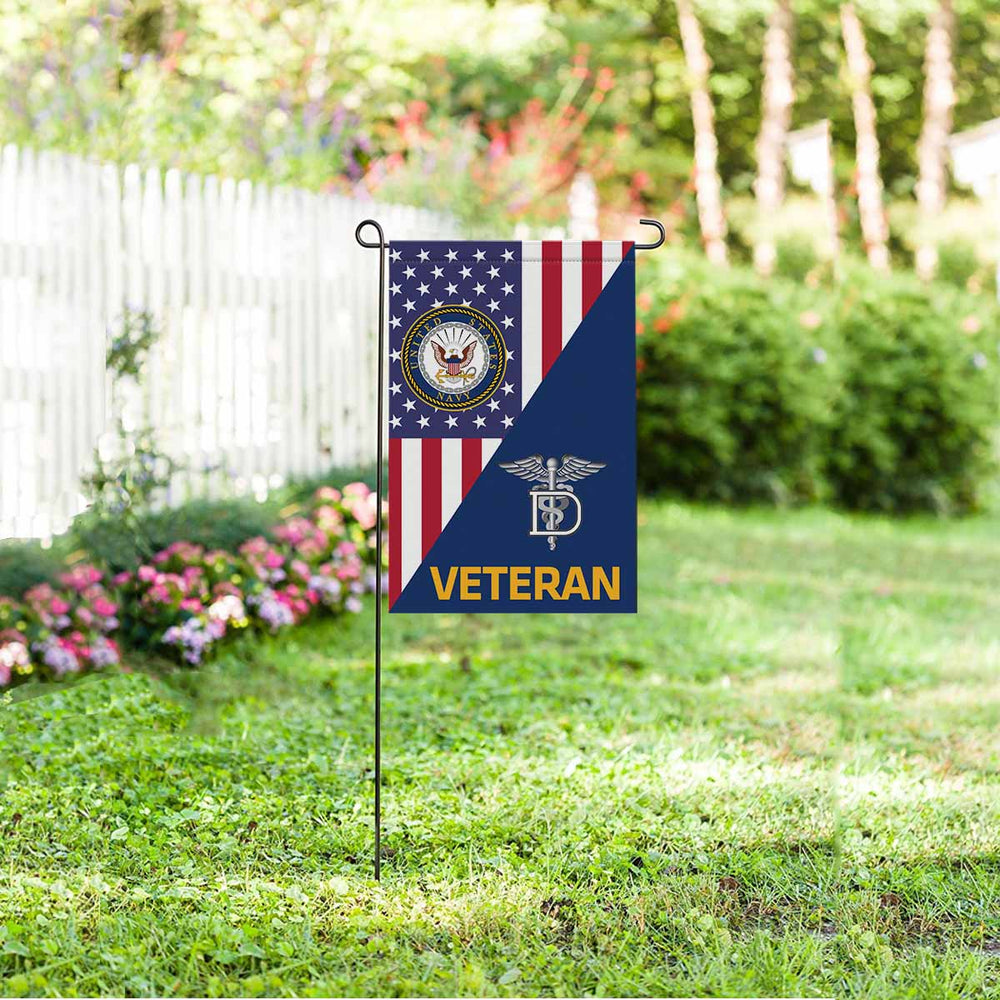 Navy Dental Technician Navy DT Veteran Garden Flag 12'' x 18'' Twin-Side Printing