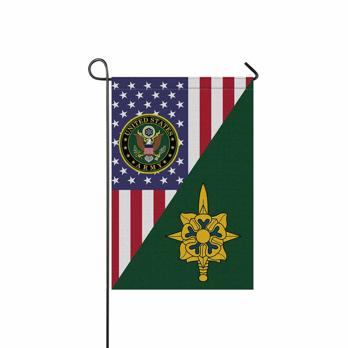 US Army Military Intelligence Branch Garden Flag 12 Inch x 18 Inch Twin-Side Printing