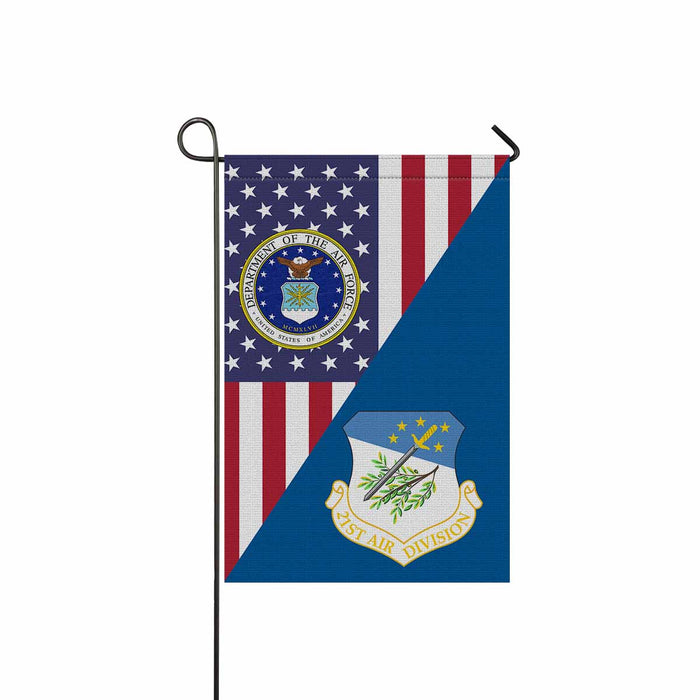 US Air Force 21st Air Division Garden Flag 12'' x 18'' Twin-Side Printing