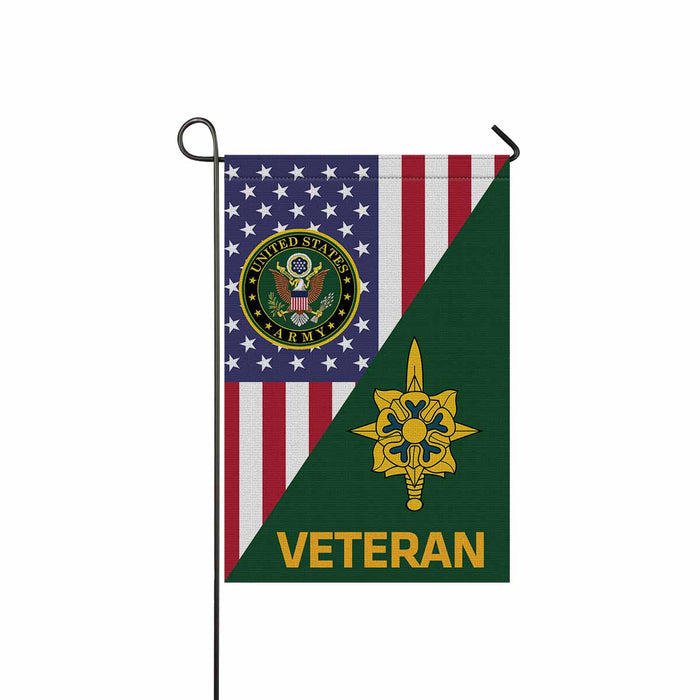 US Army Military Intelligence Branch Veteran Garden Flag 12 Inch x 18 Inch Twin-Side Printing